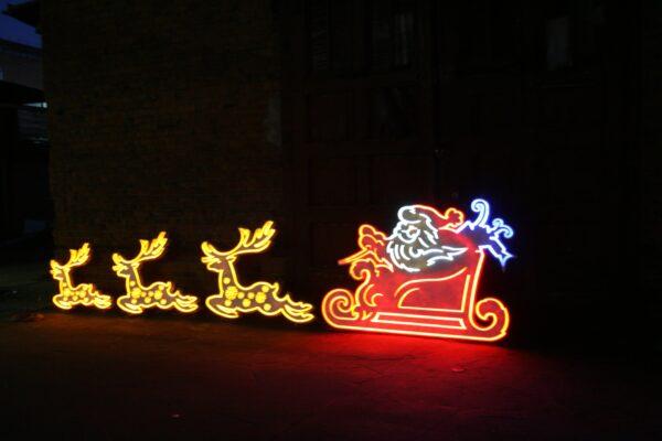 Светодиодное панно Упряжка Деда Мороза