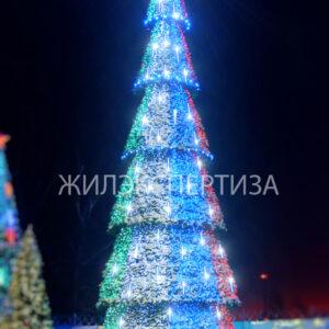 Уличная Сосна светодинамическая «Сибирская»