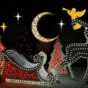 Новогодняя фотозона «Упряжка Деда Мороза»