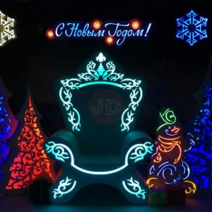 Новогодняя фотозона «Приемная Деда Мороза»