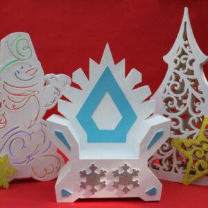 """Новогодняя фотозона """"Снеговик, трон и елка"""""""