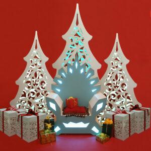 """Новогодняя фотозона """"Трон,елки и подарки"""""""