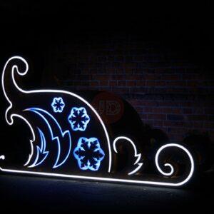Новогодние светящиеся «Сани Снегурочки» модель 2