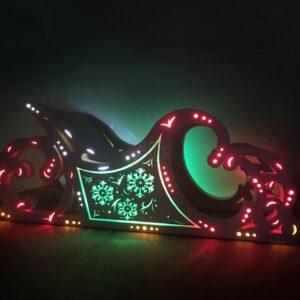 Новогодние светящиеся «Сани Морозко»