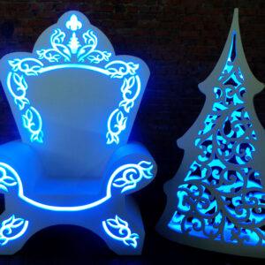 Новогодний трон «Деда Мороза»