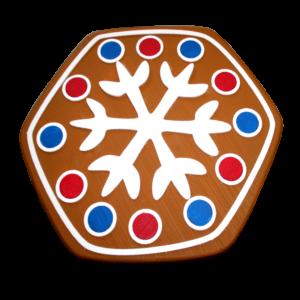 "Новогодний пряник ""Печенька со снежинкой"""
