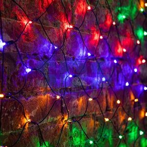 "Гирлянда ""Сеть"" 1х1,5м, черный ПВХ, 160 LED"