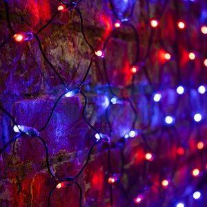 "Гирлянда ""Сеть"" 2х0,7м, черный ПВХ, 176 LED"